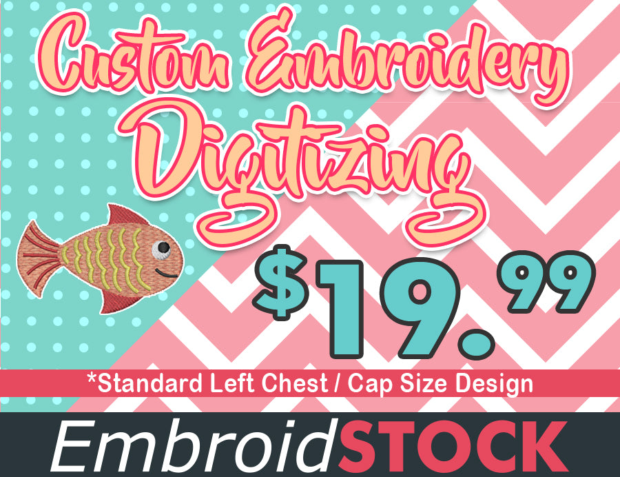 Special Custom Embroidery Digitizing - Embroidstock