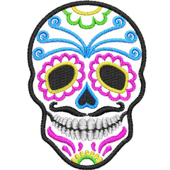 Dia de Muertos Sugar Skull Applique
