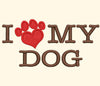 Image of I Love My Dog Embroidery Design - Embroidstock