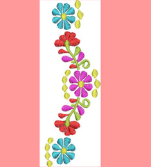 Decorative Flowers Embroidery Design - Embroidstock