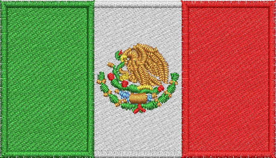 Mexican Flag Embroidery Design - Embroidstock