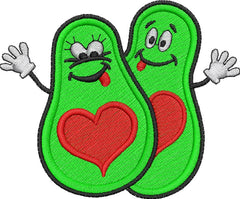 Avocado Love Embroidery Design - Embroidstock
