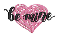 Be Mine Heart Embroidery Design - Embroidstock