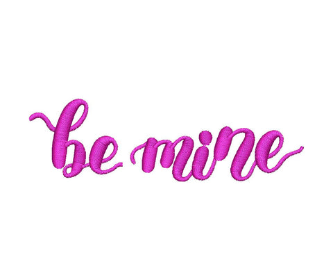 Be Mine Embroidery Design - Embroidstock