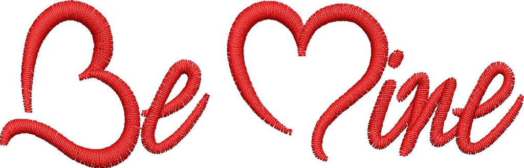 Be Mine Hearts Embroidery Design - Embroidstock