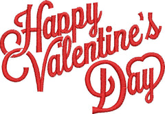 Happy Valentines Day Embroidery Design - Embroidstock