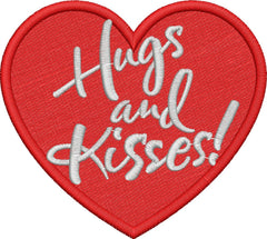 Hugs and Kisses! Embroidery Design - Embroidstock