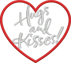 Hugs and Kisses! Embroidery Design
