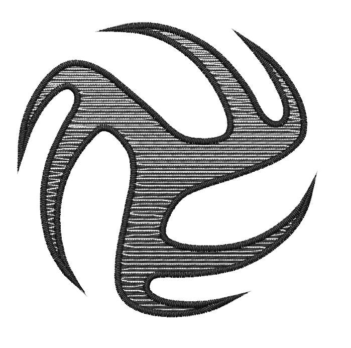 Tribal Volleyball - Embroidstock