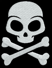 Cartoon Skull Embroidery Design - Embroidstock
