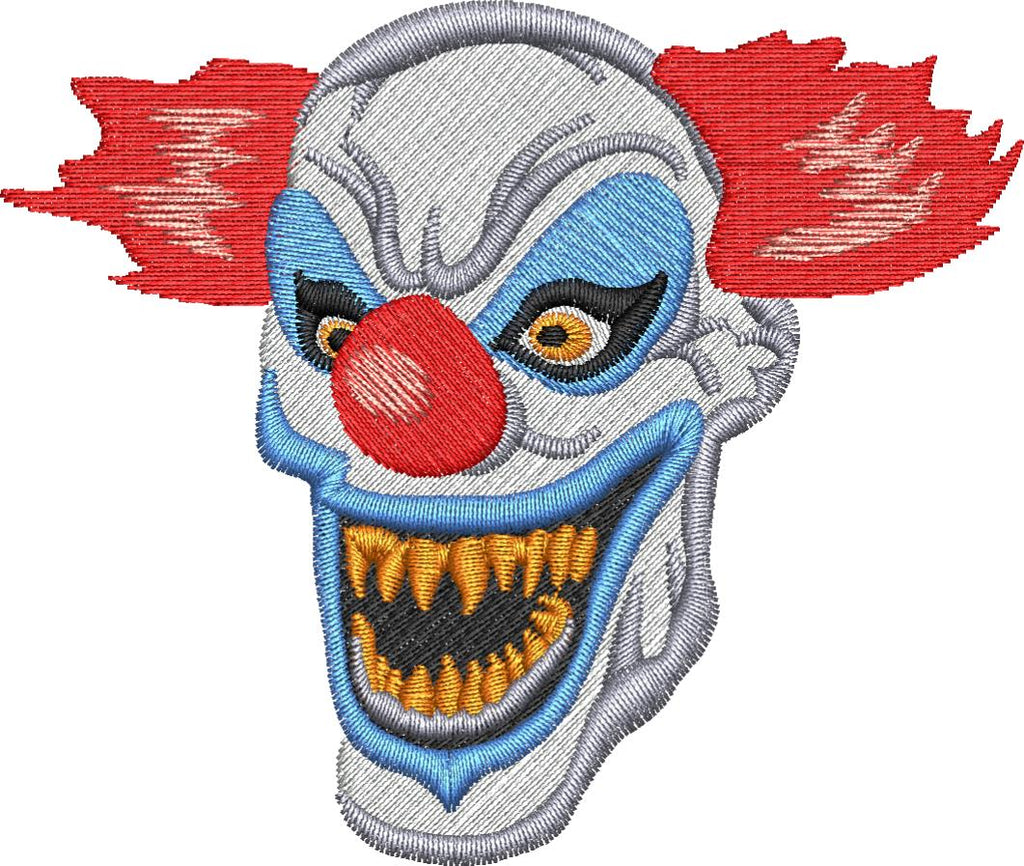Evil Clown Embroidery Design - Embroidstock