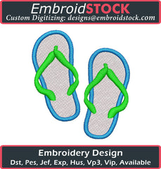 Flip Flops Embroidery Design - Embroidstock