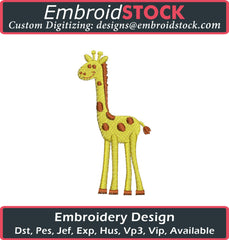 Baby Giraffe Embroidery Design - Embroidstock