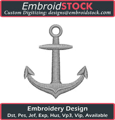 Anchor Embroidery Design - Embroidstock