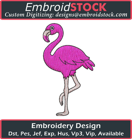 Flamingo Embroidery Design - Embroidstock