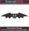 Image of Cute Bat Embroidery Design - Embroidstock
