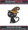 Image of Halloween Cat Embroidery Design - Embroidstock