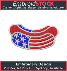 American Hot Dog Embroidery Design - Embroidstock