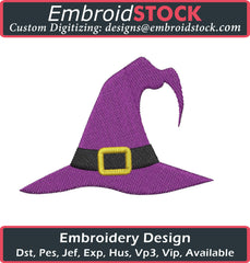 Halloween Witch Hat Embroidery Design - Embroidstock