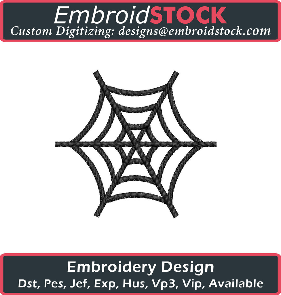 Emoji Spider Web Embroidery Design - Embroidstock