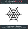 Image of Emoji Spider Web Embroidery Design - Embroidstock