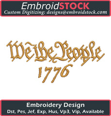 We The People 1776 Embroidery Design - Embroidstock