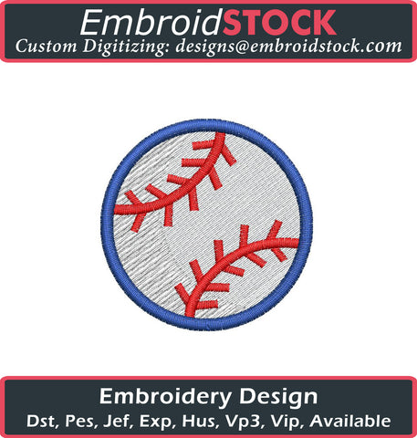 Baseball Embroidery Design - Embroidstock
