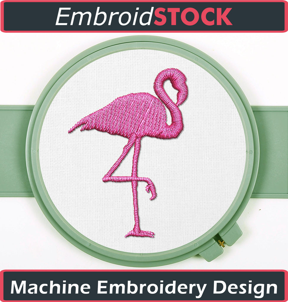 Flamingo Clip art - Embroidstock
