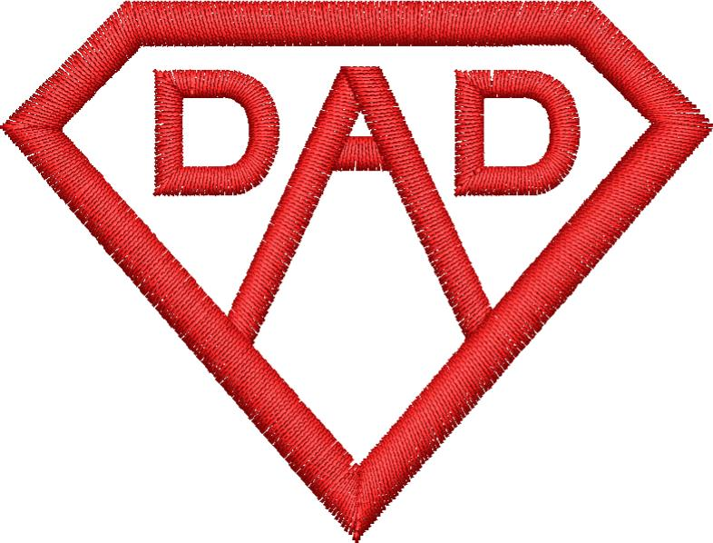Dad Shield Embroidery Design - Embroidstock