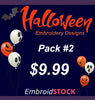 Image of Halloween Embroidery Designs Pack #2 - Embroidstock