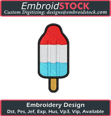 Popsicle Embroidery Design - Embroidstock