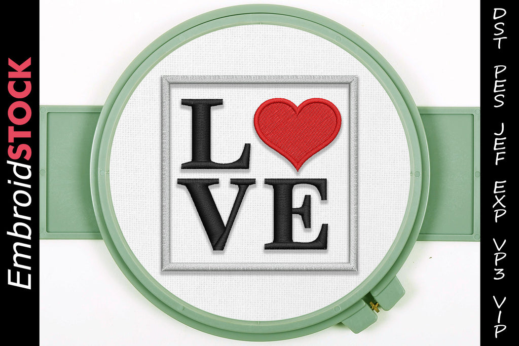 Love Heart Embroidery Design - Embroidstock