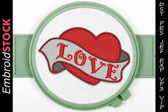 Love Tattoo Embroidery Design - Embroidstock