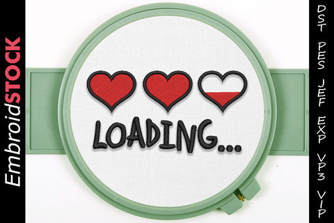 Love Loading Embroidery Design - Embroidstock