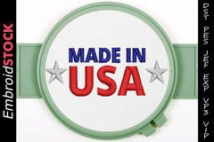Made in USA Embroidery Design - Embroidstock