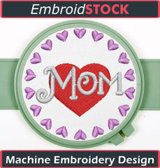 Mom Embroidery Design - Embroidstock