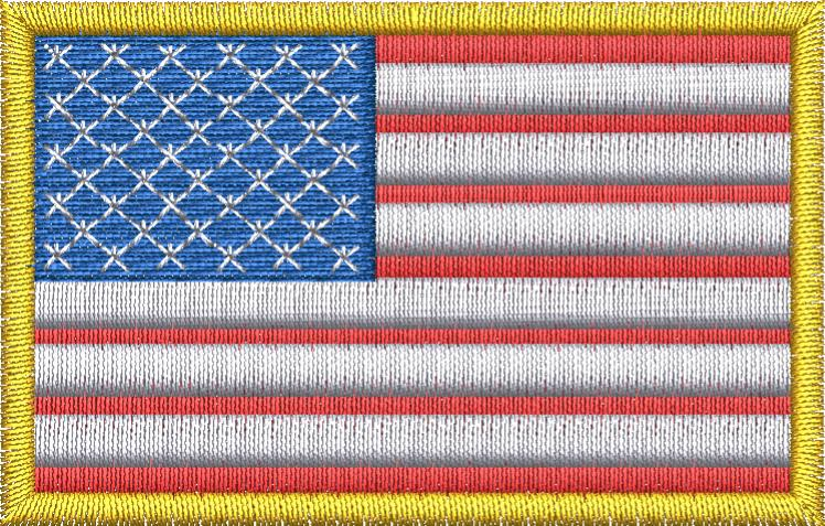 U.S. Flag - Embroidstock