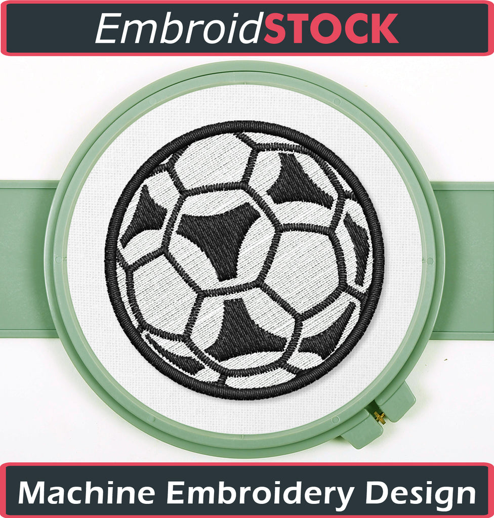 Soccer ball Embroidery design - Embroidstock