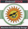 Image of Sun with shades - Embroidstock