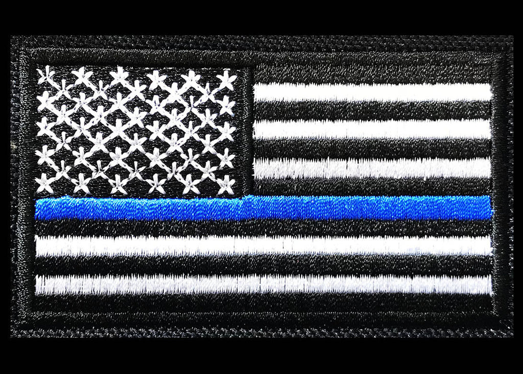 Thin Blue Line Flag Embroidery Design - Embroidstock