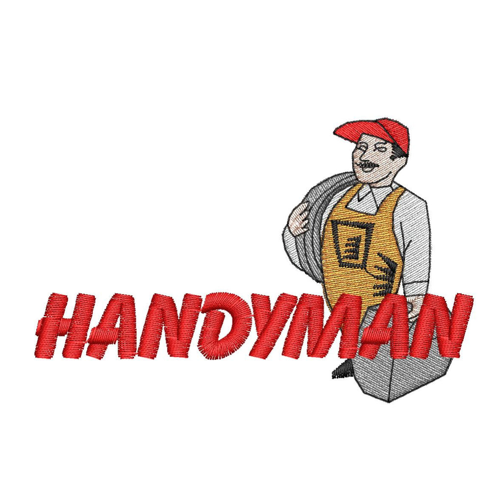 Handy Man Embroidery Design - Embroidstock