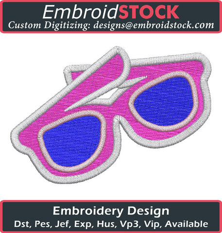 Summer Shades Embroidery Design - Embroidstock