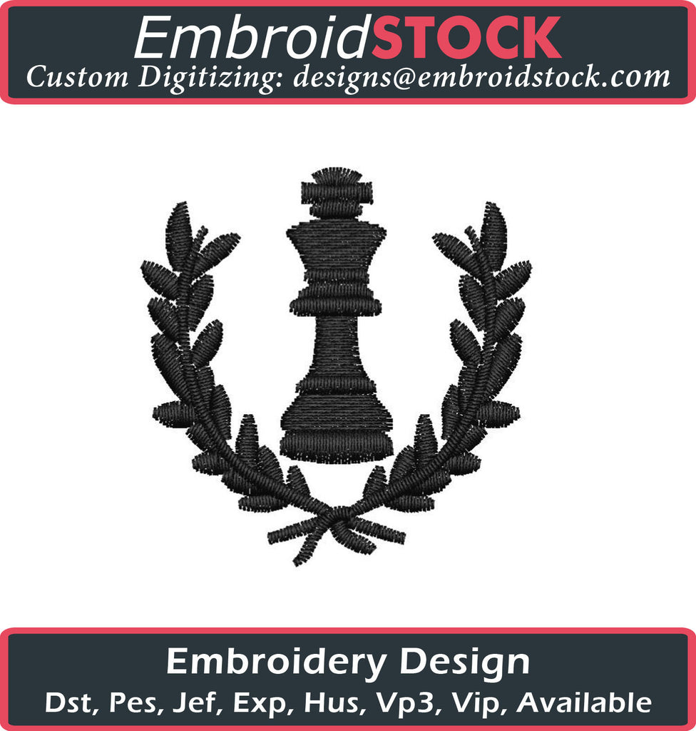 Chess Champion Embroidery Design - Embroidstock
