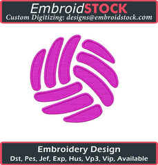 Volleyball Embroidery Designs - Embroidstock