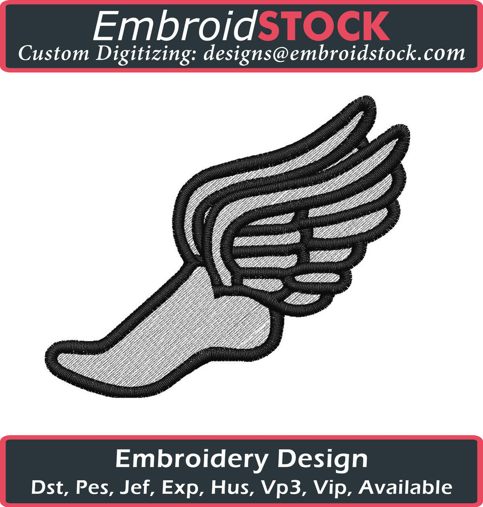 Track Embroidery Logo - Embroidstock