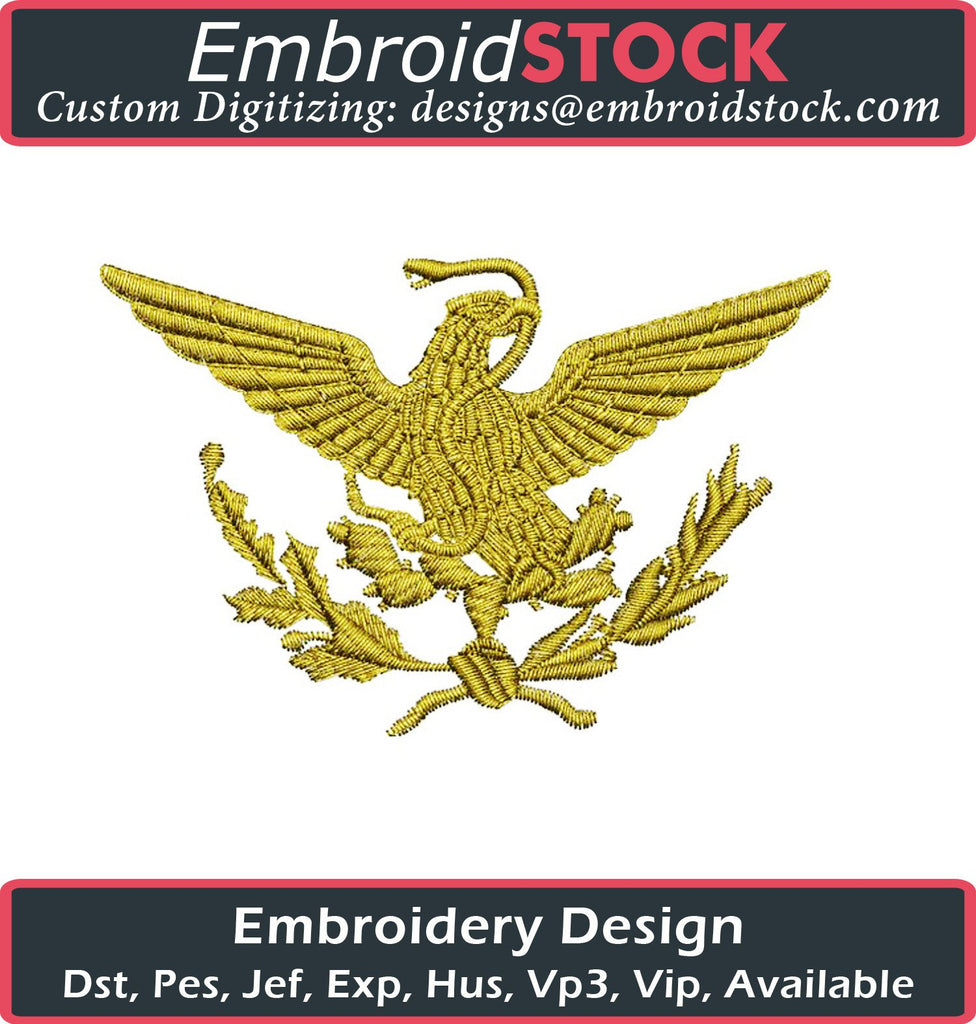 Mexican Flag Eagle Embroidery Design - Embroidstock