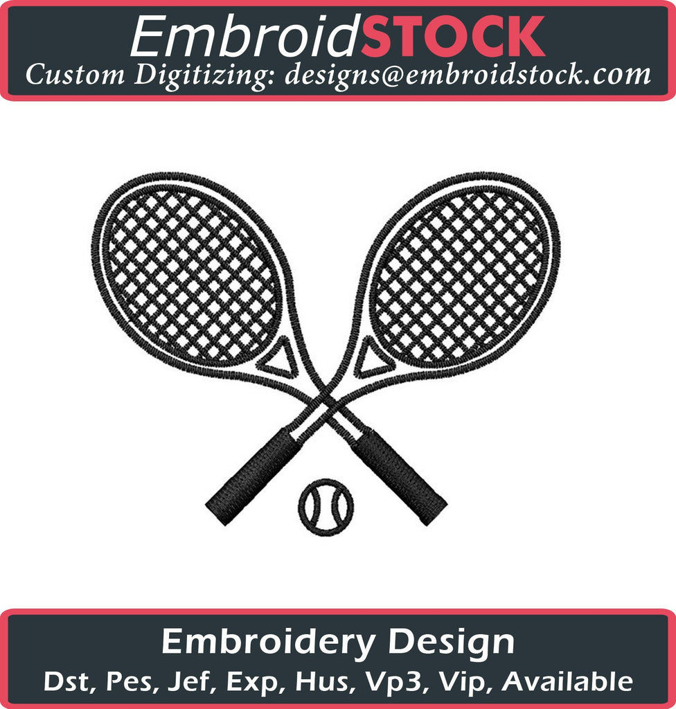 Tennis Racquets - Embroidstock
