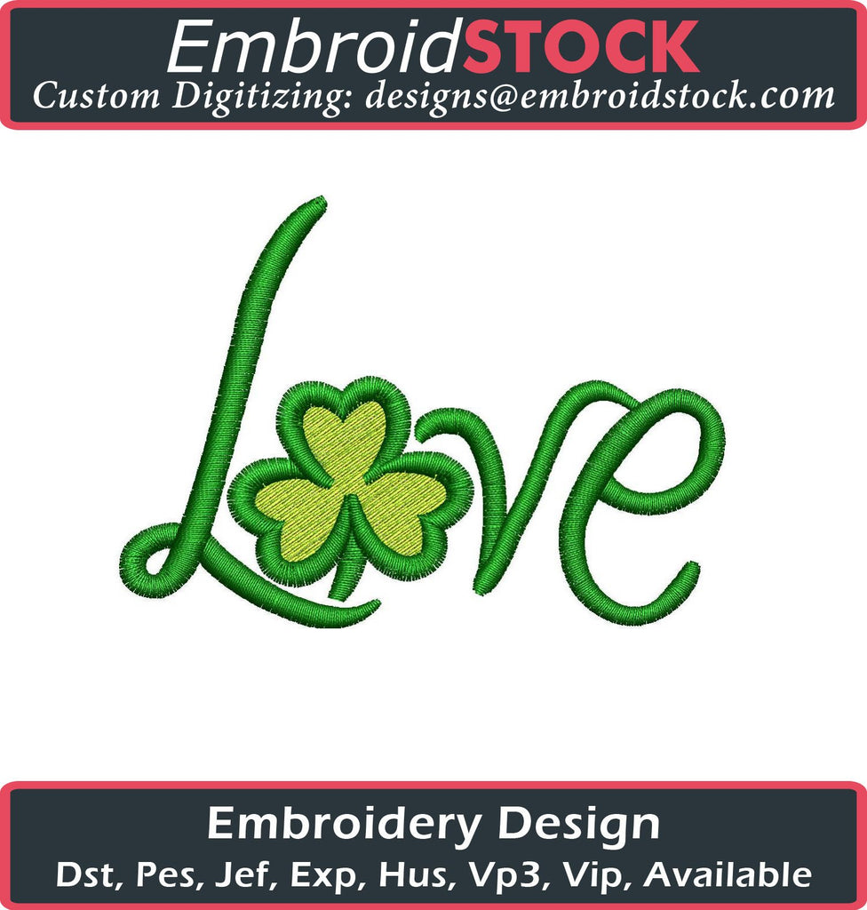 Lucky Love Embroidery Design - Embroidstock