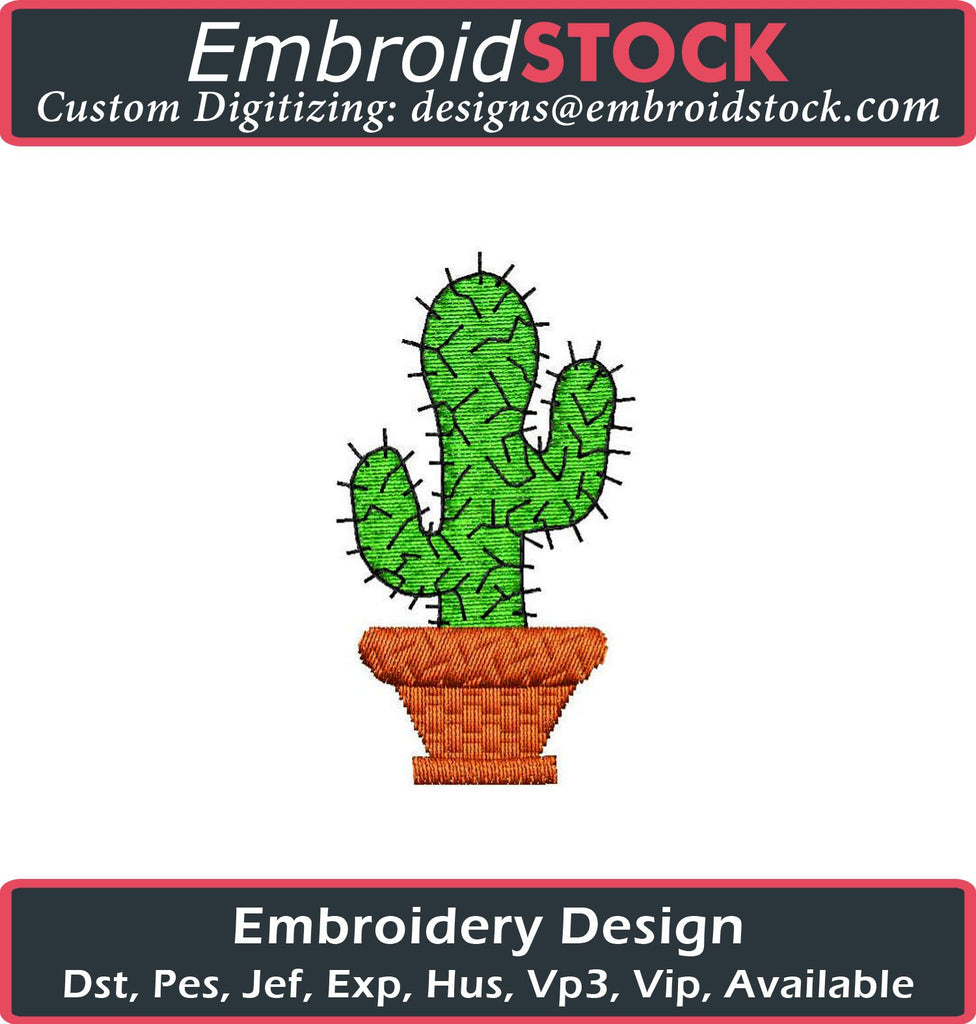 Cactus Embroidery Design - Embroidstock