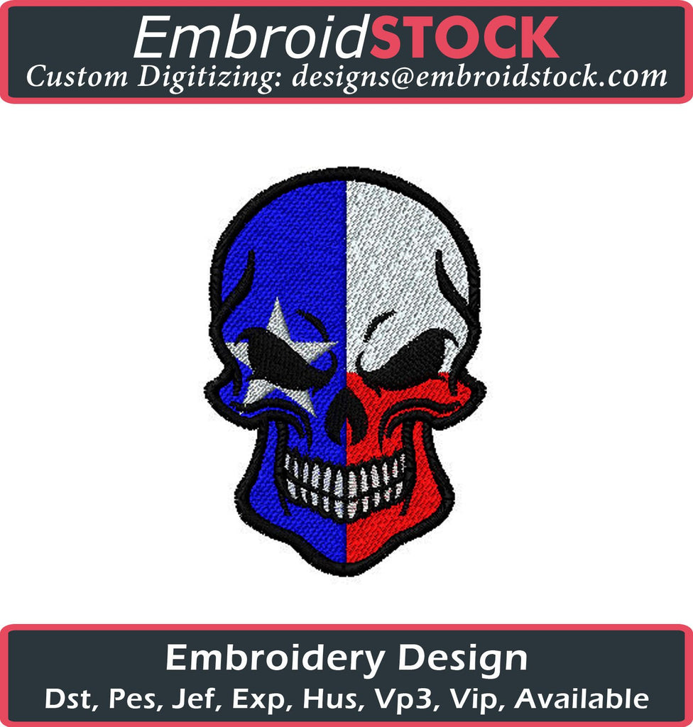 Texas Skull - Embroidstock